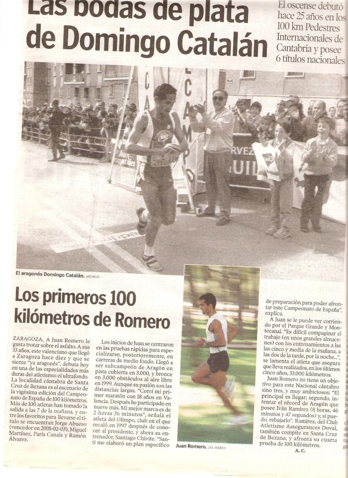 Récord de Aragón de 100 kms.